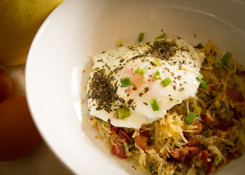 Spaghetti Squash (Paleo) Breakfast Bowl